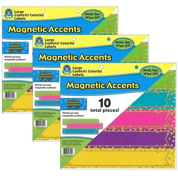 (3 Pk) Large Confetti Labels Accents Magnetic