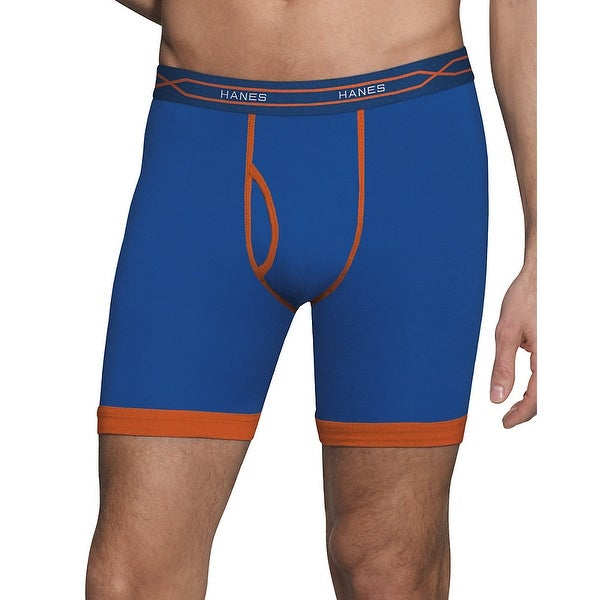 c35081672db4 Shop Hanes Men's X-Temp® Active Cool Long Leg Boxer Briefs 3-Pack - Size - L  - Color - Assorted - Free Shipping On Orders Over $45 - Overstock - 13859532