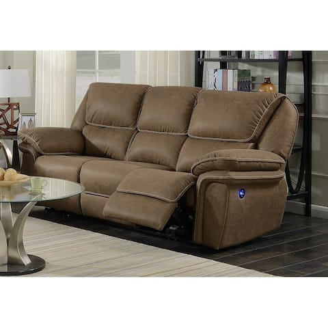 Copper Grove Krems Reclining Faux Leather Sofa