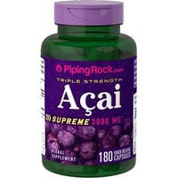 Piping Rock Triple Strength Acai 3000 mg Supreme Quick Release Capsules Herbal Supplement (90 Capsules)