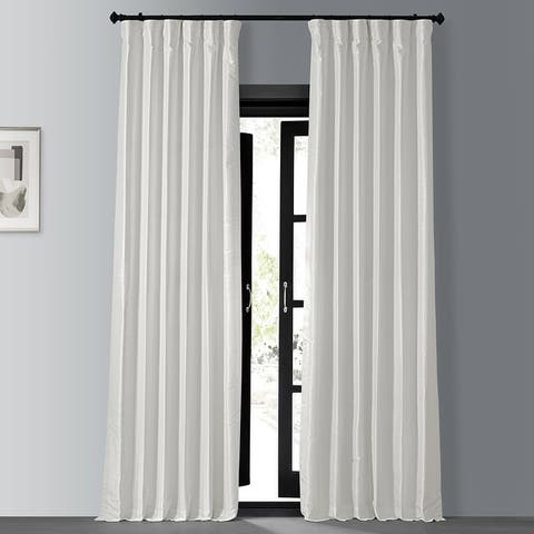 Exclusive Fabrics Blackout Vintage Textured Faux Dupioni Silk Curtain (1 Panel)