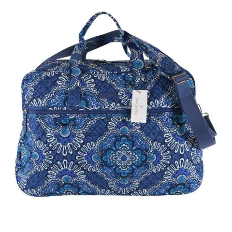 Vera Bradley BLUE TAPESTRY Grand Traveler Cotton Weekender Duffle Bag