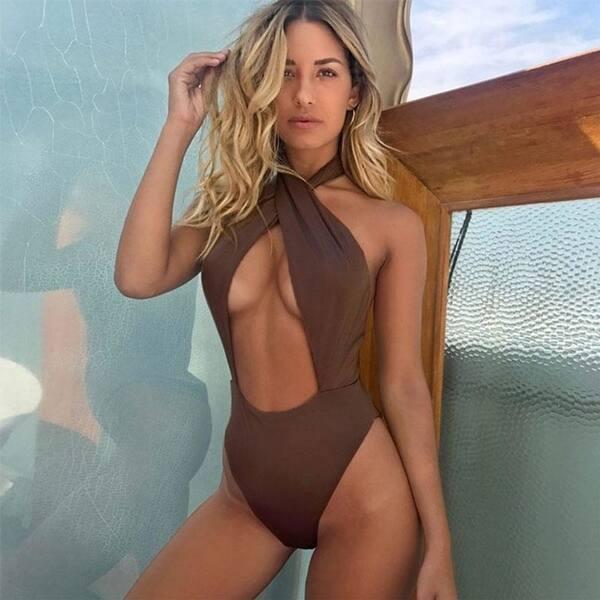 c0ed0301910 Shop 2018 Sexy Cross Swimwear Women Swimsuit One Piece Swimsuit ...