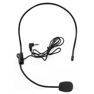 3.5mm Jack Head-mounted Headset Condenser Microphone Mic Flexible Wired Boom