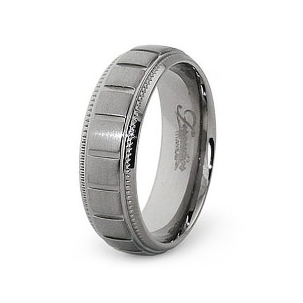 7mm Grooved Titanium Ring (Sizes 7-12)