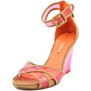 Via Spiga Biana Women Open Toe Leather Wedge Sandal