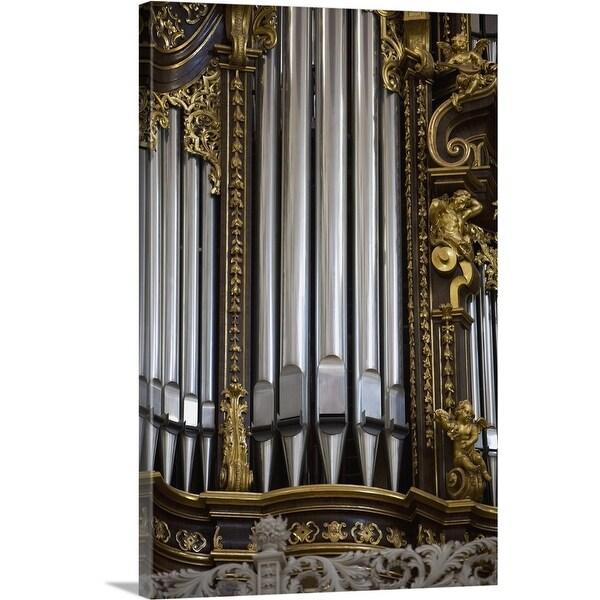 """Church organ, Saint Stephan's Cathedral, Passau, Germany"" Canvas Wall Art"