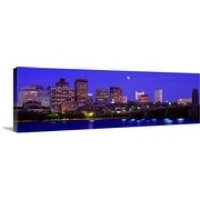 Premium Thick-Wrap Canvas entitled Dusk Charles River Boston MA
