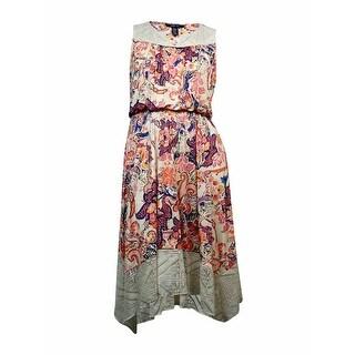 Style & Co. Women's Cutout Floral Print Crochet Dress