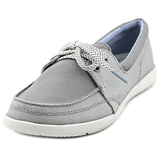Crocs Walu II Canvas Skimmer Women Moc Toe Canvas Boat Shoe