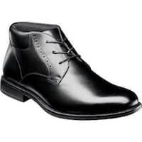 Nunn Bush Men's Nantucket Plain Toe Chukka Boot Black Leather