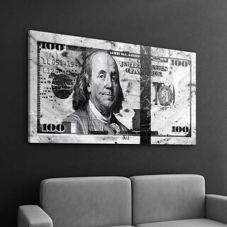 IKONICK Marble Money ( White Edition ) Canvas Art