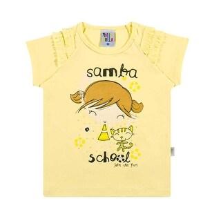 Toddler Girl T-Shirt Graphic Tee Little Girls Ruffled Top Pulla Bulla 1-3 Years