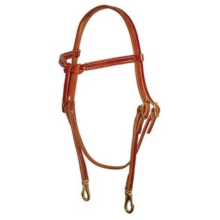 Berlin Custom Leather Headstall Hermann Oak Knotted Brow Snap