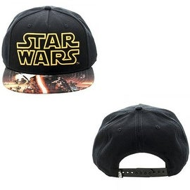 Disney Black/ Yellow Star Wars The Force Awakens Poster Sublimated Snapback Hat