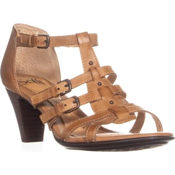 b826af64eaf Shop Sofft Solana Strappy Heel Sandals, Luggage - 8 US / 39 EU ...