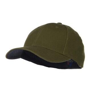 Low Profile Washed Flex Cap - Dark Olive