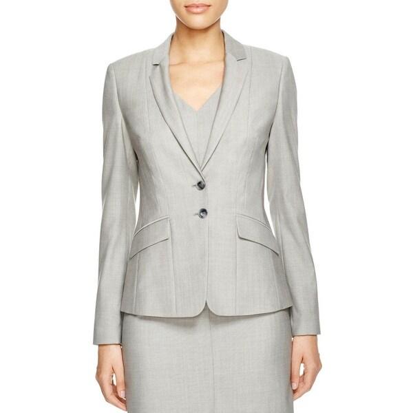 e96087ca8f Shop Hugo Boss Womens Jalotta1 Two-Button Blazer Wool Notch Collar - 6 - Free  Shipping Today - Overstock - 16417846