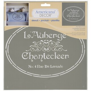 "Americana Decor Stencil 12""X12""-The French Inn"