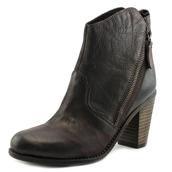 Charles David Ivi Women Round Toe Leather Bootie