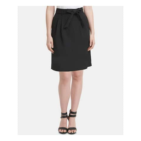 DKNY Womens Black Knee Length A-Line Wear to Work Skirt Size 0