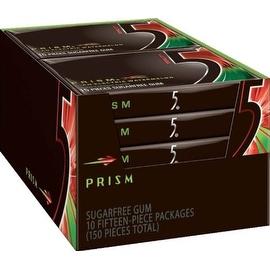 Wrigley's 5 Sugar Free Gum Prism 10 pack (15 ct per pack)