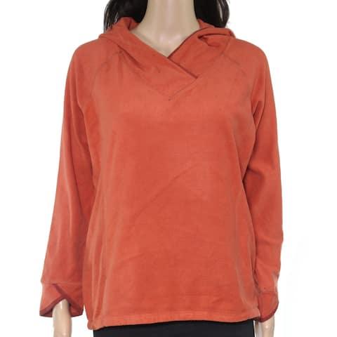 Royal Robbins Womens Hoodie Canyon Orange Size XS Seamed Foxtail Fleece