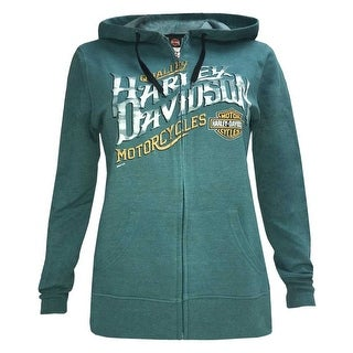 Harley-Davidson Women's Tires of Thunder Full-Zip Fleece Hoodie w/ Contrast Trim