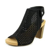 Giani Bernini Joiseyy Women Open Toe Synthetic Black Platform Sandal - 11