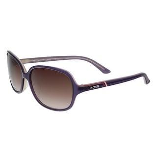 Lacoste L 656S 516 Lavender Rectangular Sunglasses - 58-16-135