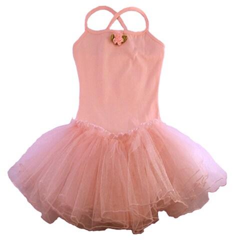 Reflectionz Pink Rosette Tutu Leotard Dance Dress Toddler Girl 2T-8