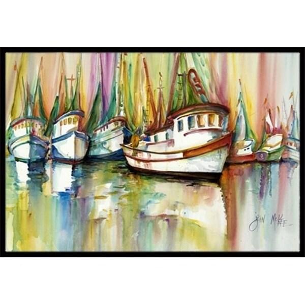 Carolines Treasures JMK1074JMAT Shrimp Fleet Indoor & Outdoor Mat 24 x 36 in.