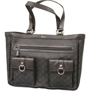 Gucci Abbey Black Nylon Tote Bag