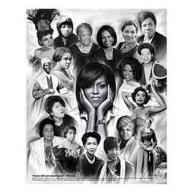 ''Great African Americans: Women'' by Wishum Gregory Celebrities Art Print (11 x 8.5 in.)
