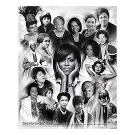 ''Great African Americans: Women'' by Wishum Gregory Celebrities Art Print (11 x 8.5 in.)
