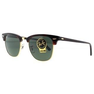 RAY-BAN Square RB 3016 Unisex W0366 Havana/Gold Green G15 Sunglasses - 49mm-21mm-140mm