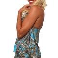 Women's Blue Camo Authentic True Timber Bikini Tankini TOP ONLY Beach Swimwear - Thumbnail 2