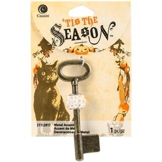 Tis The Season Accents-Antique Gold Key 1/Pkg