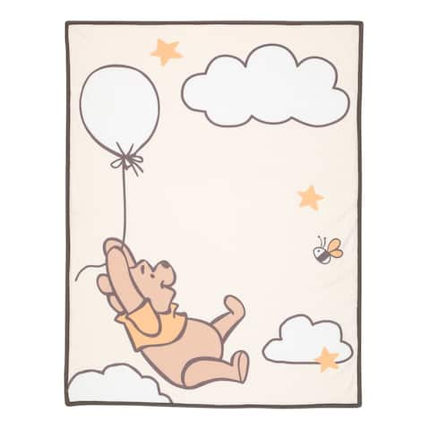 Lambs & Ivy Disney Baby WINNIE THE POOH Picture Perfect Sherpa Baby Blanket