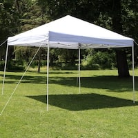 Sunnydaze Quick-Up 12-Foot Straight Leg Canopy with Carrying Bag - White