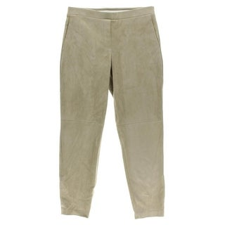 Theory Womens Dress Pants Faux Suede Seamed