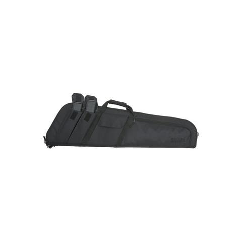 "Tactical Rifle Case Wedge Lockable Foam Padding 41"" Black"