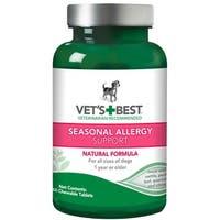 """Vet's Best Dog Seasonal Allergy Support Supplement 60 Tablet Green 2.5"""" x 2.5"""" x 4.94"""""""