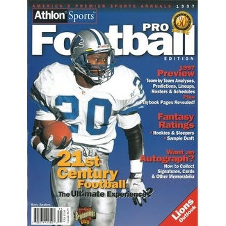 Wholesale Shop Barry Sanders unsigned Detroit Lions Athlon Sports 1997 NFL Pro