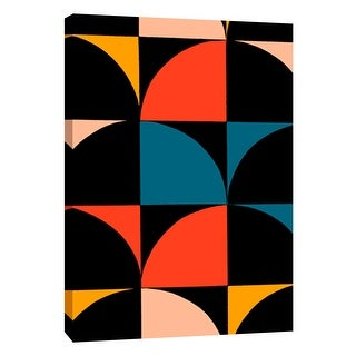 "PTM Images 9-108774  PTM Canvas Collection 10"" x 8"" - ""Monochrome Patterns 9 in Multi"" Giclee Abstract Art Print on Canvas"