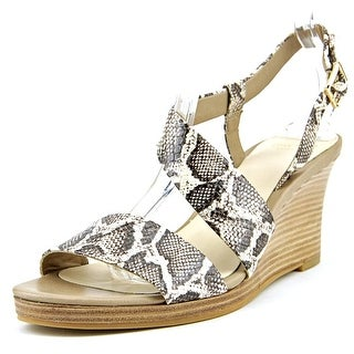 Cole Haan Ravenna   Open Toe Leather  Wedge Sandal