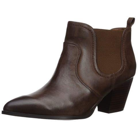 Bella Vita Womens Emerson Leather Closed Toe Ankle Fashion Boots