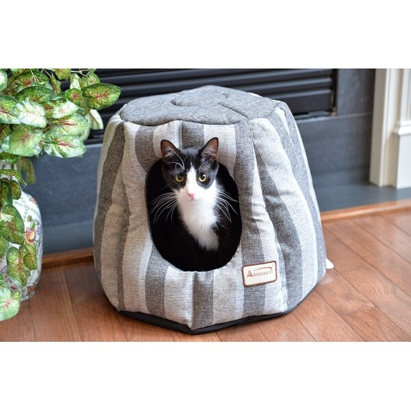 Armarkat Pearl and Putty Heavy-duty Canvas Cat House/Bed. Opens flyout.