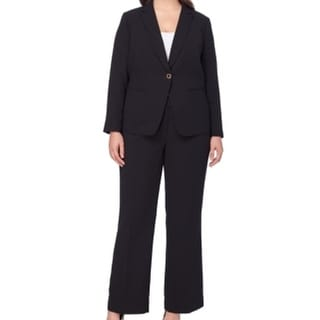 Tahari by ASL NEW Black Women's 20W Plus One Button Skirt Suit Set