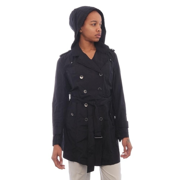 Cole Haan Trench Peacoat Trench BLK